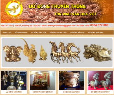 Website of traditional Vietnamese Bronze